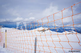 Protection Net Ski Slope Run Safety Net Mesh Mountain Protection Wall Fence Wire Fence And Snow Chain Link Fence Wire Mesh Fence In The Snow Texture Background Selective Focus Vintage Color Buy This Stock Photo And