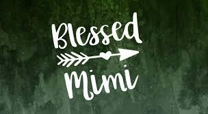 Amazon Com Celycasy Blessed Mimi Decal Grandma Car Decal Memaw Decal Mawmaw Decal Blessed Gigi Decal Blessed Grandma Decal Nana Decal Tumbler Decal Baby
