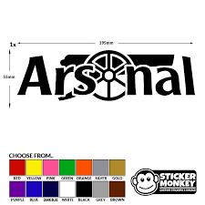 Arsenal Gunners Gooners Football Logo Decal Vinyl Sticker Choice Of Colour Keybit Services