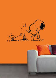 Campfire Snoopy Vinyl Wall Art Decal Snoopy Wall Art Snoopy Wall Decal Baby Deco