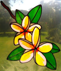 Frangipani Flower Suncatcher Window Sticker Decal Stained Glass Style By Sunshiners On Madeit Stained Glass Flowers Stained Glass Glass Flowers