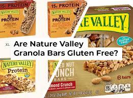 nature valley granola bars gluten free