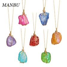 natural raw crystal jewelry charms