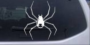 Black Widow Spider Car Or Truck Window Decal Sticker Rad Dezigns