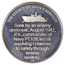 SILVER - Legacy of John F Kennedy - PT-109 Silver Round -.925 ...