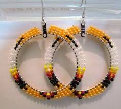 beautiful native american beaded hoop