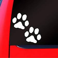 Amazon Com Sassy Stickers Dog Paw Prints Decal Car Truck Bumper Window Sticker Automotive