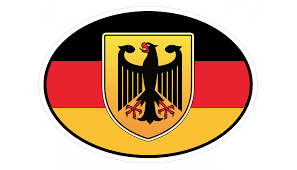 Deutschland Germany In German Flag Car Bumper Sticker Decal Oval