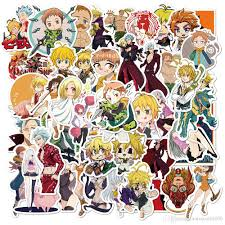 2020 Pack Of Wholesale Anime The Seven Deadly Sins Stickers Waterproof No Duplicate Sticker For Notebook Skateboard Helmet Car Decals From Autoparts2006 2 92 Dhgate Com