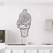 Stickers Cuisine Ice Cream Vinyl Wall Decal Mural Art Wallpaper Kitchen Tile Home Decor House Decoration Poster 30 Cm X 59 Cm Wall Stickers Aliexpress