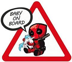 Amazon Com Meitinalife Little Superhero Baby On Board Car Stickers And Decals 5 X6 Reflective Kids On Board Sticker Baby In Car Decal For Car Styling Body Door Windshield Window Decoration 4