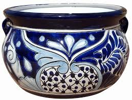 talavera garden bowls and ceramic pots