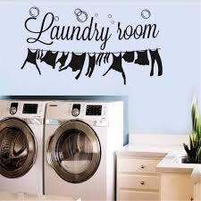 Amazon Com Bibitime Laundry Room Vinyl Decal Bubble Wall Decor Dangling Clothes Silhouette Sticker For Washhouse Bathroom Window Tile 22 44 X 12 20 Home Kitchen