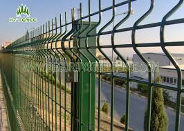 3d Curved Welded Wire Mesh Fencing With 60 60mm Square Post Metal Clips Fixed