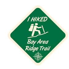 Bay Area Ridge Trail Sticker Decal R7059 Hiking Camping Winter Park Products
