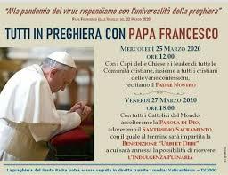 La preghiera universale di tutti i cristiani contro la pandemia ...