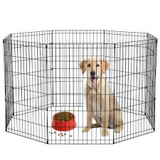 Bestpet 30 H Dog Playpen 8 Panel Crate Fence Black Walmart Com Walmart Com