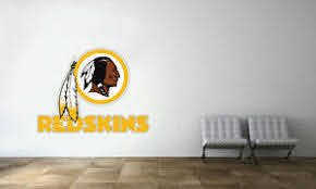Washington Redskins Logo Wall Decal Nfl Football Decor Sport Mural Vinyl Sticker Ebay