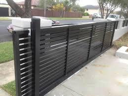 Pin By Abc Fencing On Sliding Gates Entrance Gates Driveway Modern Fence Fence Design