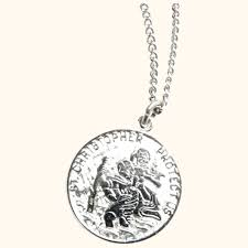 vintage sterling silver st christopher