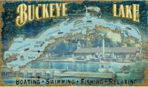 buckeye lake wood sign rustic
