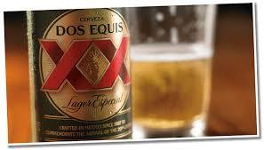 dos equis lager bottle bar