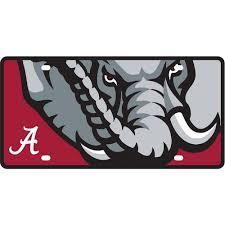 Alabama Crimson Tide License Plate Mega Plate 13733 6 Pack Turnovers Inc