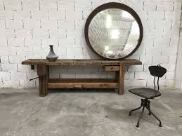 vintage large convex mirror for at