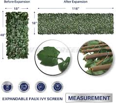 Windscreen4less Artificial Leaf Faux Ivy Expandable Stretchable Privacy Fence Screen Single Sided Leaves Amazon Ca Patio Lawn Garden