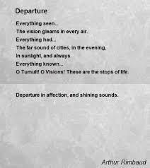 departure poem by arthur rimbaud poem