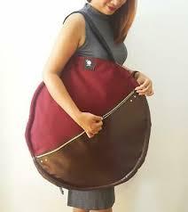 canvas blood moon faux leather bag