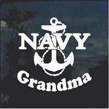 Navy Grandma Anchor Military Window Decal Stickers Custom Sticker Shop