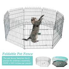 Pet Fence Foldable Metal Exercise Pen Indoor Pet Playpen Suitable For Puppies Cats Rabbits Ducks Guinea Pigs Pet Wire Fence Houses Kennels Pens Aliexpress