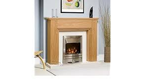 electric oak wood surround white back