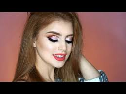 sunset cut crease makeup tutorial