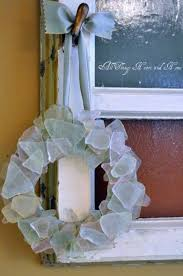 sea glass wreath with images sea