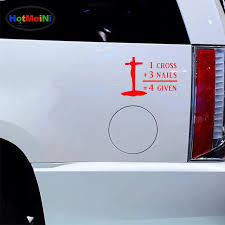 2020 Wholesale Decals Car Styling Car Stickers Glass Scratches Wall Bumper Truck Jdm Text Cross Nails Forgiven Christian Church From Zhangmin771215 26 14 Dhgate Com