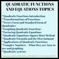 math mondays quadratics in algebra 2