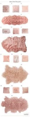 pink sheep sheepskin rug
