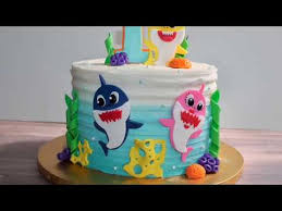 how to make a baby shark cake baby