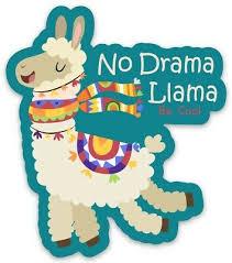 Vsco No Drama Llama Sticker Hydro Water Bottle Laptop Phone Girl Lama Decal Ebay