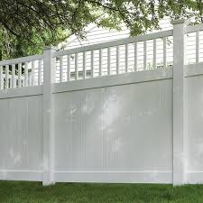 Freedom Ready To Assemble Bexley 6 Ft H X 6 Ft W White Vinyl Fence Panel In The Vinyl Fence Panels Department At Lowes Com