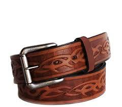 full grain belt with oil tanned