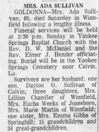 Obituary for ADA SULLIVAN (Aged 85) - Newspapers.com