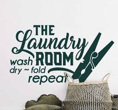 The Laundry Room Wall Home Text Wall Sticker Tenstickers