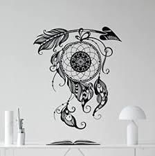 Dream Catcher Wall Decal Amulet Feather Vinyl Sticker Dreamcatcher Wall Art Yoga Studio Decor Design Meditation Room Boho Decal Housewares Bedroom Bohemian Decor Removable Wall Mural 111xxx Amazon Com