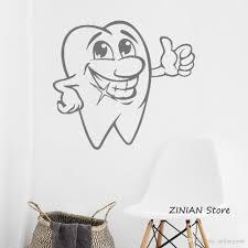Smiling Tooth Decal Vinyl Sticker Dental Clinic Logo Nursery Decor Bedroom Interior Window Decals Living Room Art Murals Custom Wall Sticker Custom Wall Stickers From Onlinegame 8 06 Dhgate Com