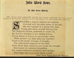 Julia Ward Howe-Poem by Ada Foster Murray   Library of Congress