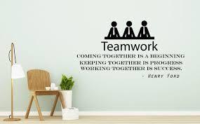 Teamwork Wall Decals Quote Decals Motivation Vinyl Stickers Etsy