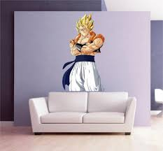 Cik1568 Full Color Wall Decal Goku Dragon Ball Z Character Living Chil Stickersforlife